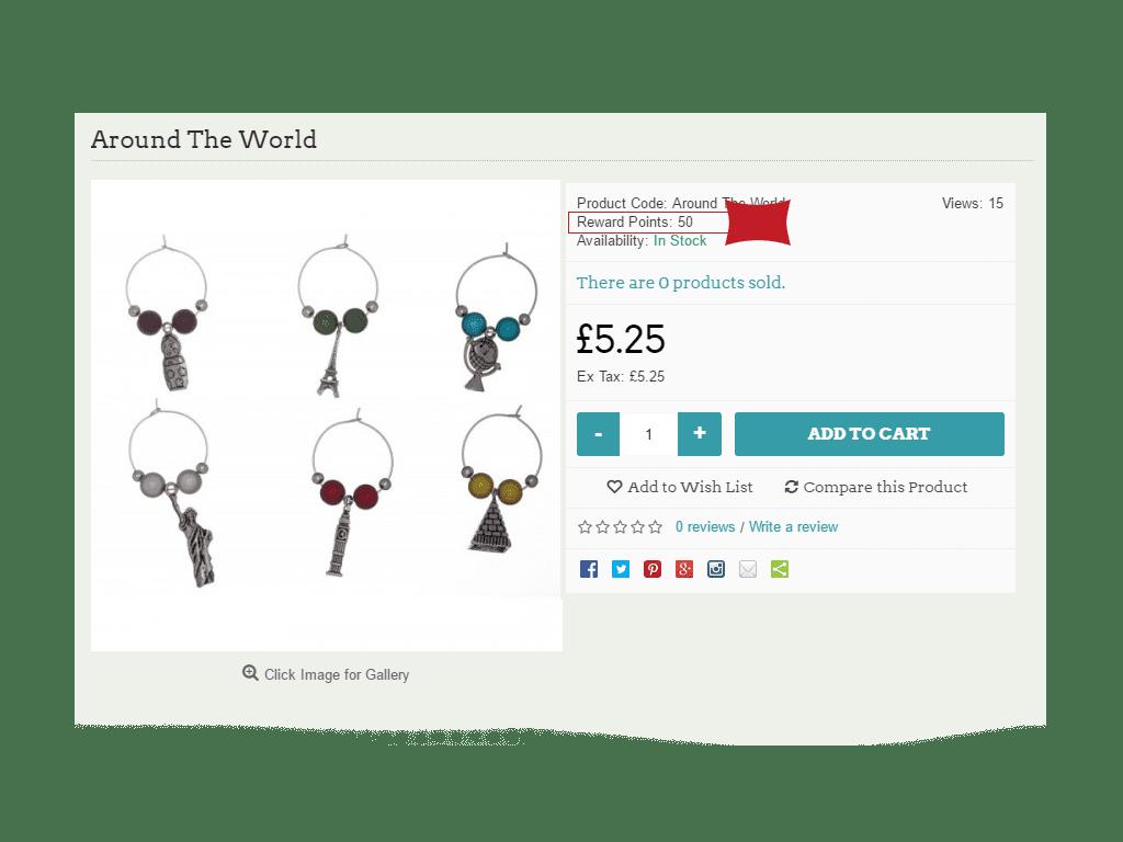 OpenCart Reward Points
