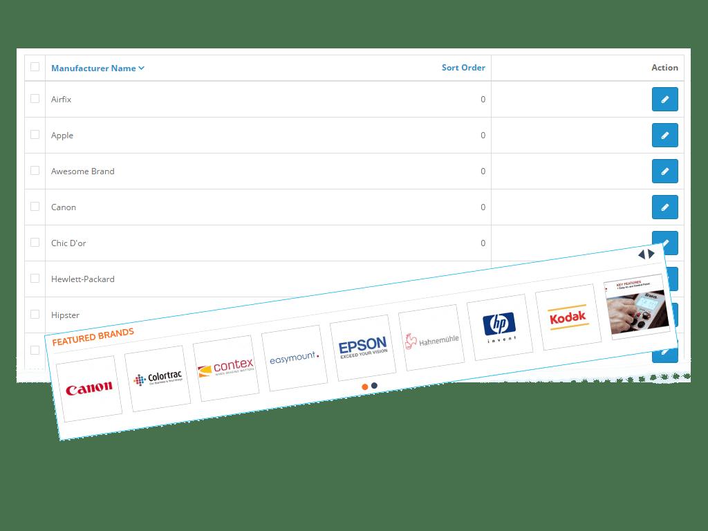 OpenCart Adding Brands